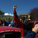Billy Johnson Victory Celebration - Lime Rock 2013